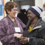 Judy Dube, Grandmother Regional Liaison for Northern Alberta, with Maude, our guest from Zimbabwe