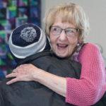 Vicki Strang from The GANG hugs Maude