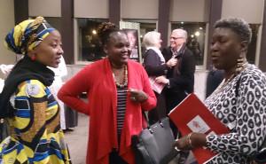 Vuyiseka Dubula, Peres Abeka and Dorothy Onyango, three of the speakers at the ASK HER talks.