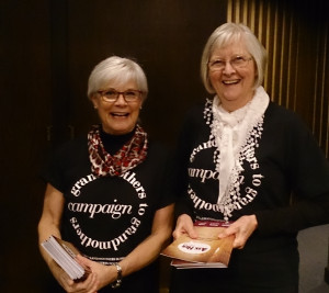 Wendy Legaarden and Joyce Madsen from The GANG's Education Committee