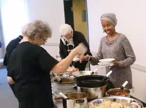 A delicious meal was shared by GANG members, SLF staff and our African sisters.