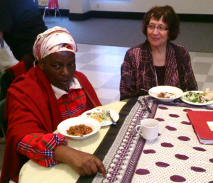 Hope Chigudu,  Zimbabwe Women's Resource Centre and Judy Dube, GANG member
